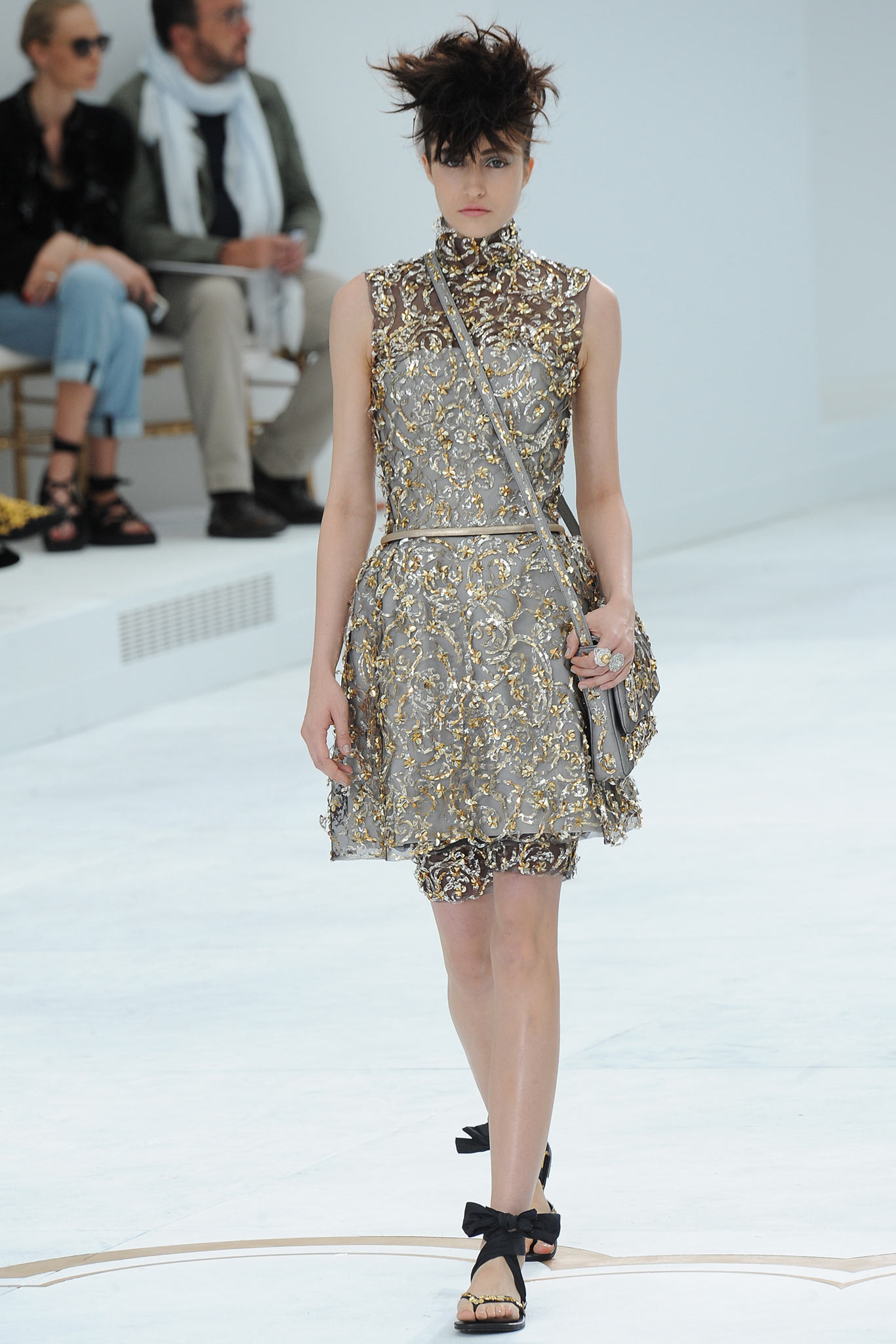 Rachael Robinson | Chanel Fall 2014 Couture (Photography: Kim Weston Arnold / Indigitalimages.com via Style.com)