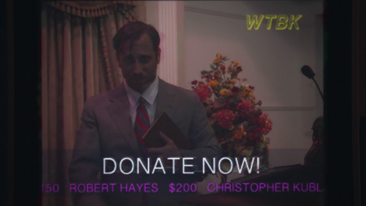 """Dan Auerbach of The Black Keys stars as a televangelist in music video for """"Weight of Love"""" (Video still: Theo Wenner)"""