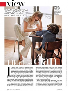 Caroline De Maigret | Vogue September 2014 (Photography: Annemarieke Van Drimmelen)
