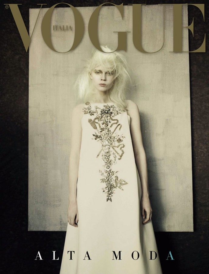 Ola Rudnicka | Vogue Italia September 2014 Alta Moda Supplement (Photography: Paolo Roversi)