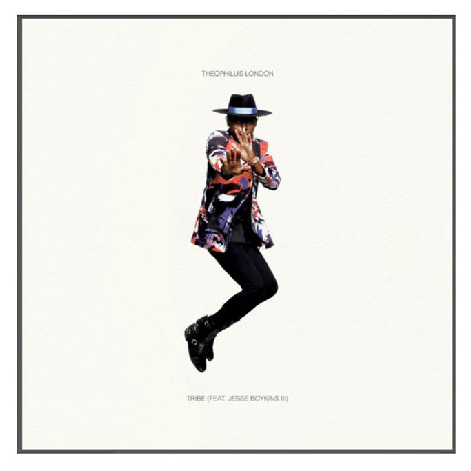"Cover artwork for Theophilus London's single ""Tribe"" by Karl Lagerfeld"