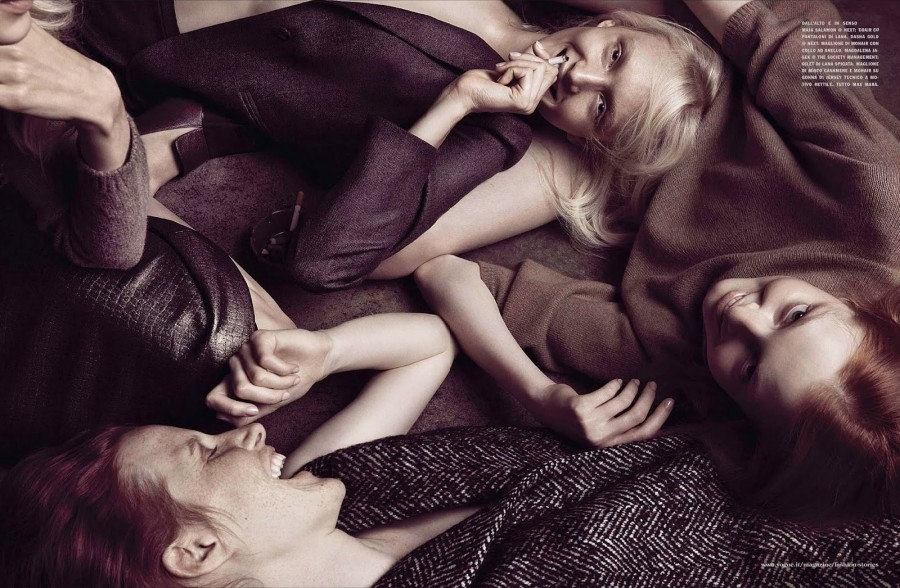 Maja Salamon & Dasha Gold | Vogue Italia August 2014 (Photography: Camilla Åkrans)