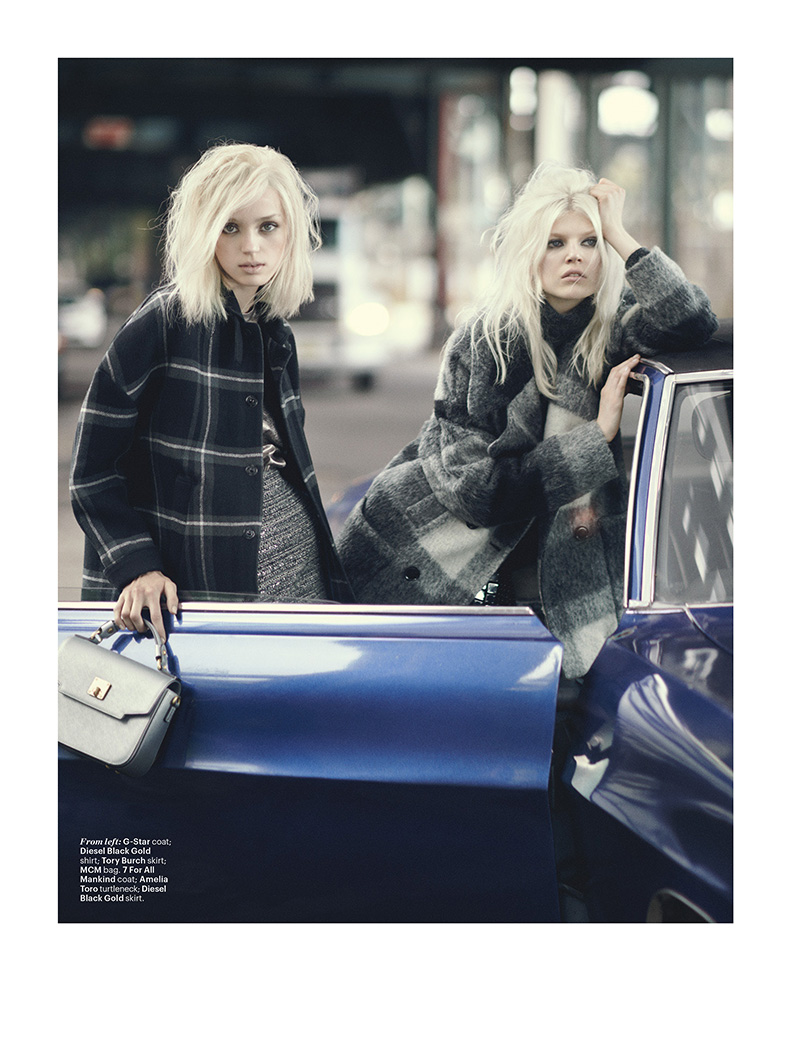 Esmeralda Seay-Reynolds & Ola Rudnicka | W September 2014 (Photography: Boo George)