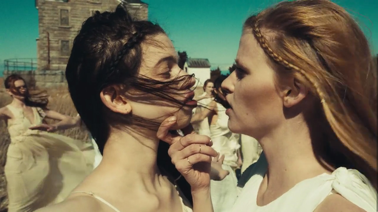 """Lara Stone is having none of it — Lily McMenamy in """"Weight of Love"""" by The Black Keys (Video still: Theo Wenner)"""