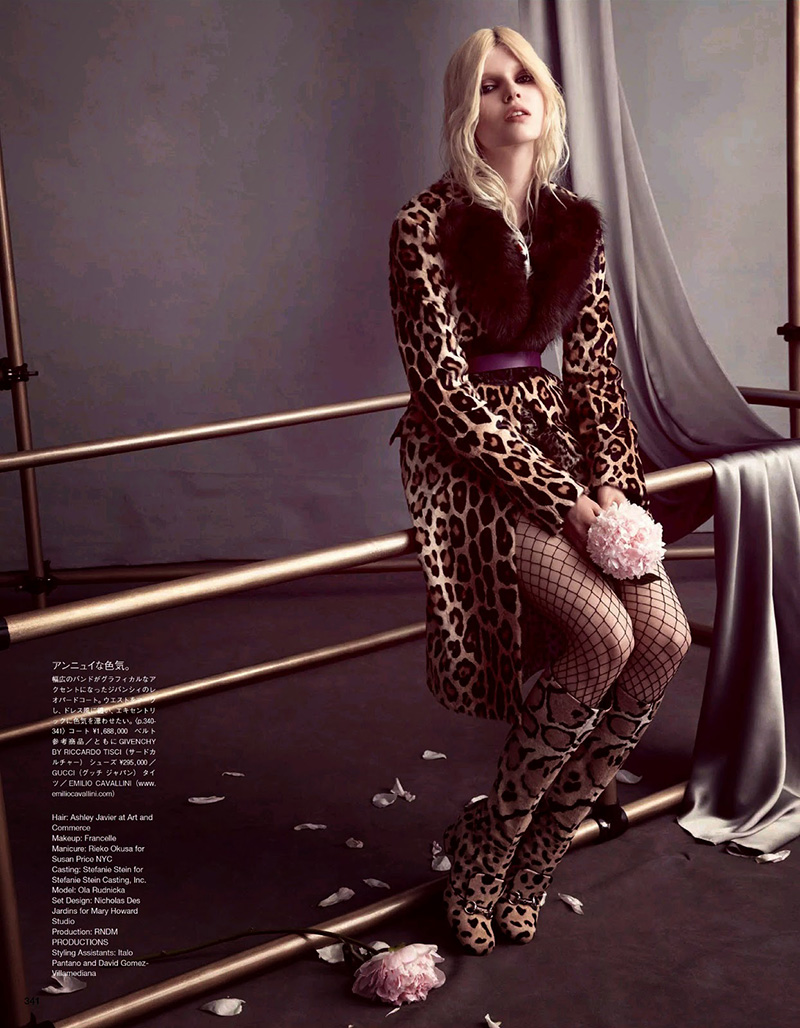 Ola Rudnicka | Vogue Japan October 2014 (Photography: Camilla Åkrans)