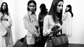 Binx and Yana join lineup backstage | Chloé Spring 2015 (Video still: Damien Neva)