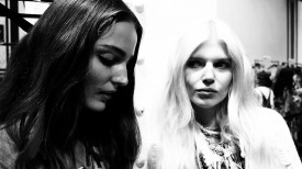 Zuzanna Bijoch & Ola Rudnicka are the essence of chiaroscuro | Etro Spring 2015 (Video still: Damien Neva)