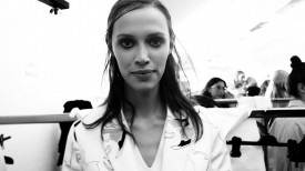 A half dozen models at Next featured starting with Georgia Hilmer... | Tod's Spring 2015 (Video still: Damien Neva)