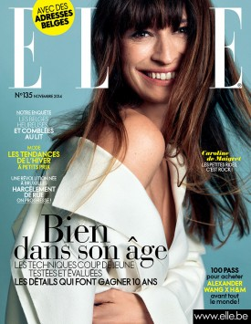 Caroline de Maigret | ELLE Belgium November 2014 (Photography: Nico for Lancôme)