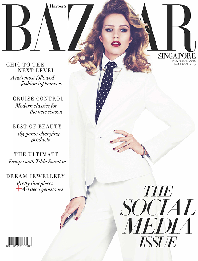 Julia Frauche | Harper's Bazaar Singapore November 2014 (Photography: Jens Langkjaer)