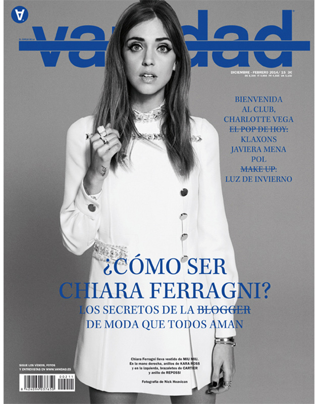 Chiara Ferragni | Vanidad December 2014 - February 2015 (Photography: Nick Heavican)