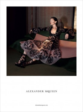 Karolin Wolter for Alexander McQueen Spring / Summer 2015 (Photography: David Sims)