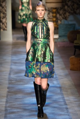 Maja Salamon | Erdem Fall / Winter 2015 (Photography: Yannis Vlamos / Indigitalimages.com via Style.com)