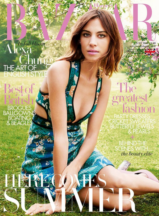 Alexa Chung | Harper's Bazaar UK July 2015 (Photography: David Slijper)