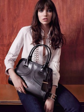 Grace Hartzel for Tod's Fall / Winter 2015-2016 (Photography: Michelangelo Di Battista)