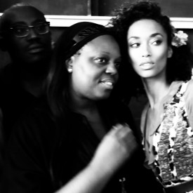 Anais Mali with Pat McGrath & Edward Enninful | Diane Von Furstenberg Spring 2016 (Video still: Damien Neva)
