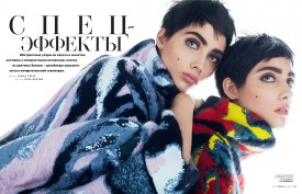 Odette P with twin sister Lia | Vogue Russia November 2015 (Photography: Txema Yeste)