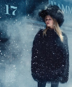 Ola Rudnicka | Harper's Bazaar November 2015 (Photography: Norman Jean Roy)