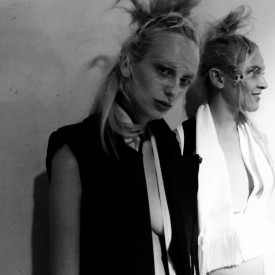 Lili Sumner with Lida Fox | Haider Ackermann Spring / Summer 2016 (Video still: Damien Neva)