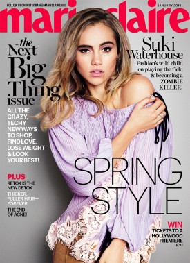 Suki Waterhouse | Marie Claire January 2016 (Photography: Simon Emmett)