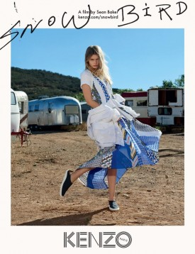 Abbey Lee for Kenzo Spring Campaign (Photography: Sean Baker)