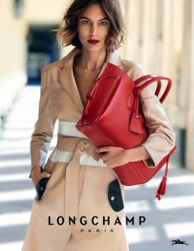 Alexa Chung for Longchamp Paris Spring 2016 (Photography: Peter Lindbergh)