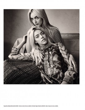 Pyper America Smith & Daisy Clementine Smith | Numéro N°170 February 2016 (Photography: Victor Demarchelier)