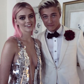 Pyper America & Lucky Blue ready for the Met Gala 2016 (Video still: Damien Neva)