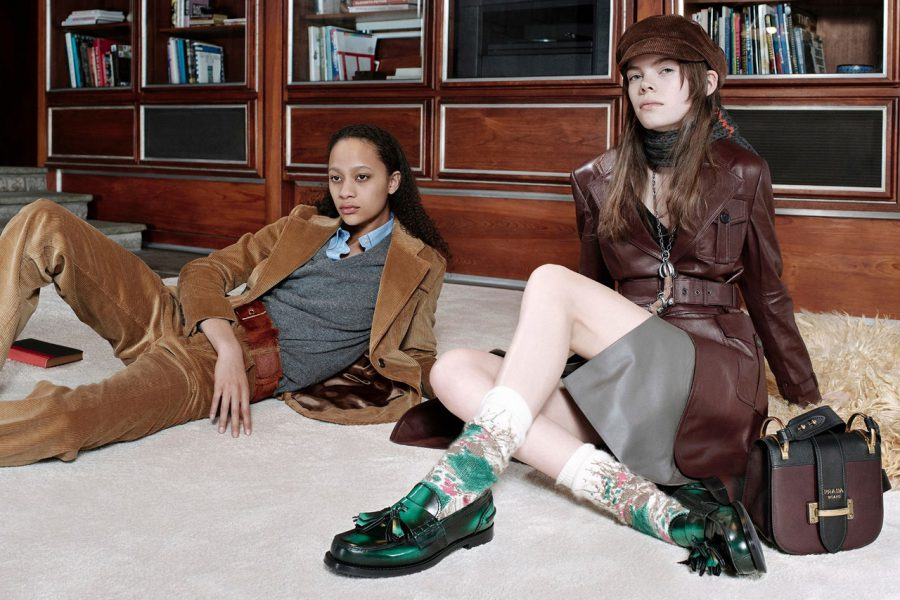 Selena Forrest & Nina Gulien for Prada Pre-Fall 2017 (Photography: Willy Vanderperre)