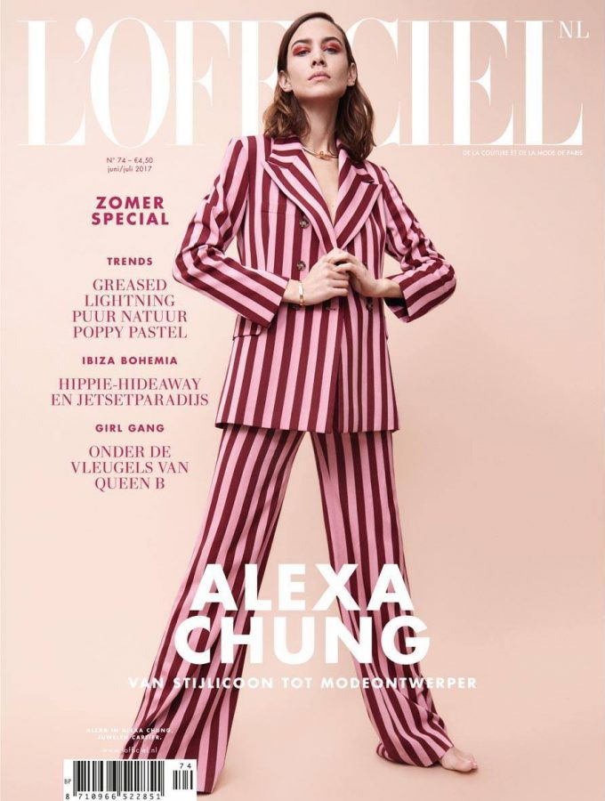 Alexa Chung | L'Officiel NL June / July 2017 (Photography: Carlotta Manaigo)