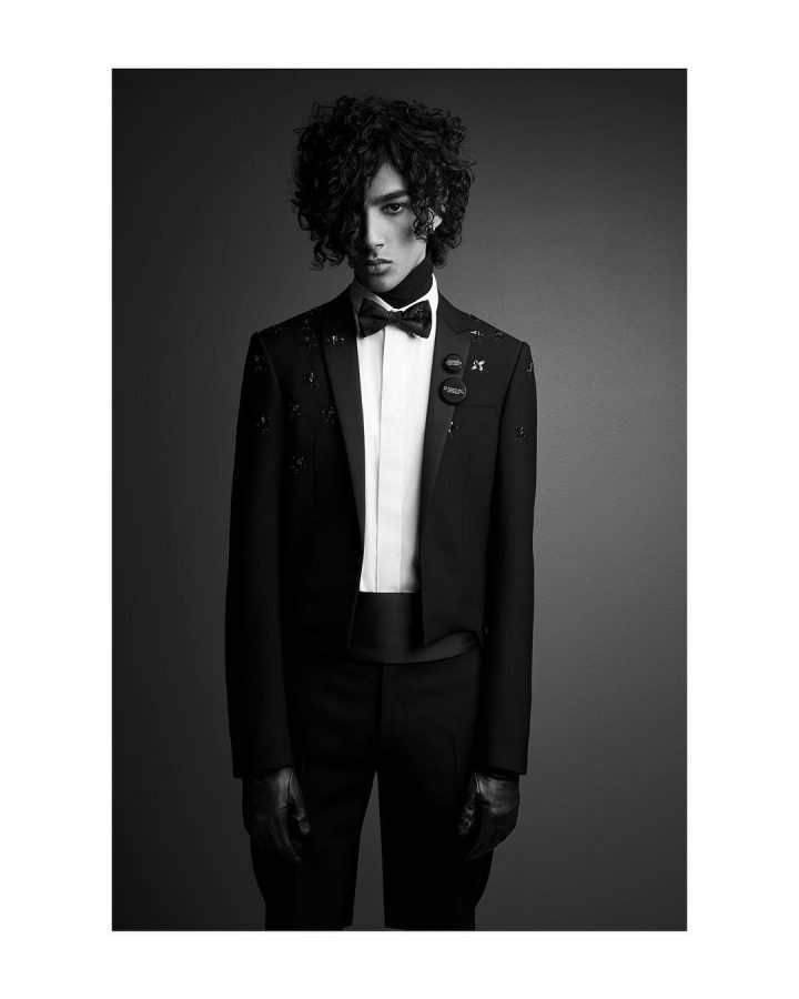 Callum Stoddart for Dior Homme Black Carpet Spring 2018 (Photography: Patrick Demarchelier)