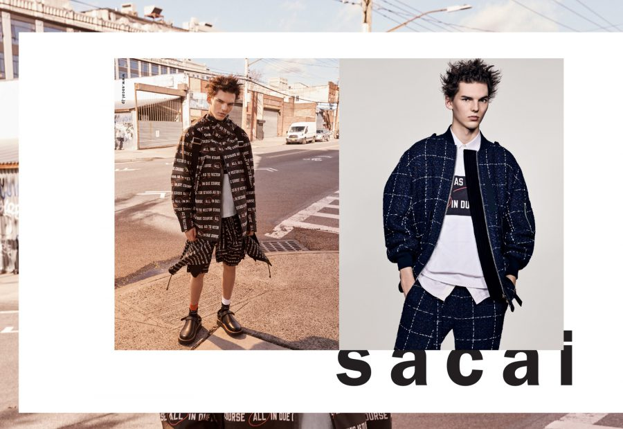 Eli Epperson for Sacai Spring / Summer 2018 (Photography: Craig McDean)