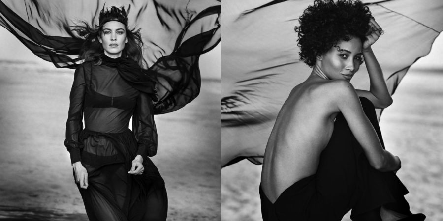 Alexa Chung & Lineisy Montero photographed by Peter Lindbergh for Douglas Cosmetics