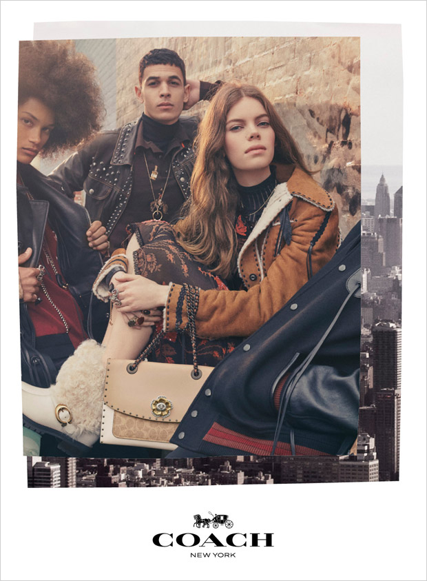Nina Gulien with Ali Latif for Coach 1941 Fall / Winter 2018 (Photography: Steven Meisel)